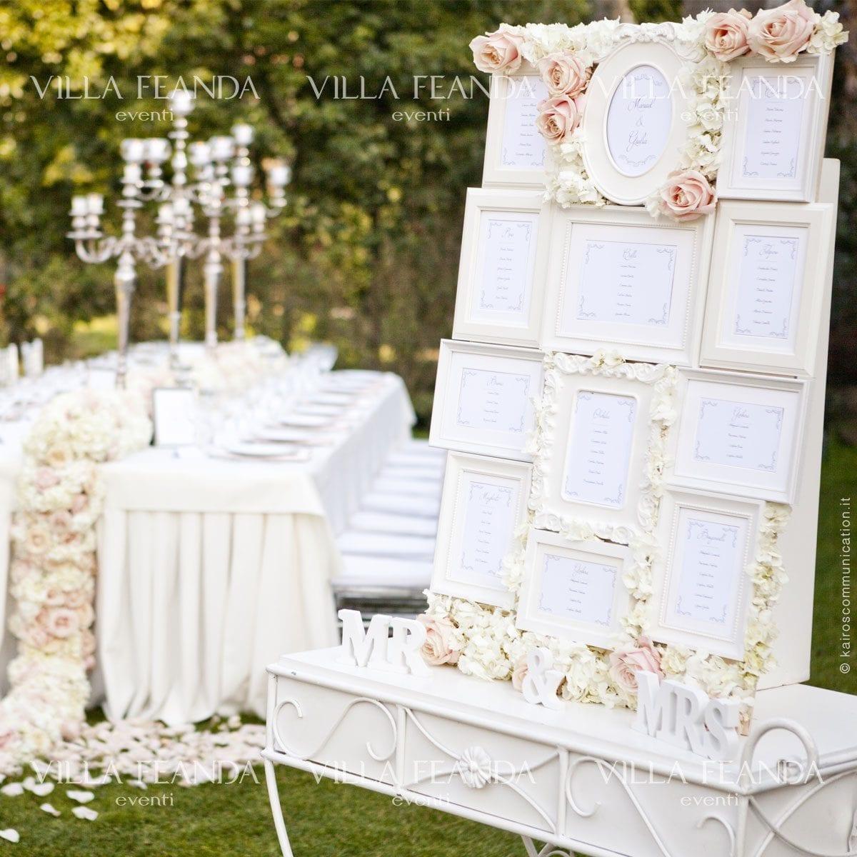 abbastanza Tableau de mariage, idee e consigli | Villa Feanda Eventi LO02